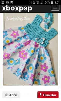"diy_crafts- This post was discovered by M. ""A Collection of Crochet Girls"", ""Para la princesa en turquesa \""Discover thousands of images about Crochet Tutu, Crochet Dress Girl, Crochet Yoke, Crochet Fabric, Crochet Girls, Crochet Baby Clothes, Crochet For Kids, Diy Crochet, Irish Crochet"