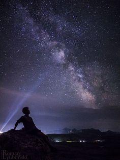 Look into infinity by Roman Lyubimski on 500px.... #Milky Way #human #mountain…