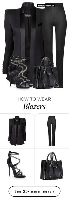 """Untitled #2567"" by whokd on Polyvore featuring Balmain, Giuseppe Zanotti…"
