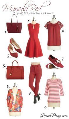 Red Fashion Trends for Memorial Day and 4th of July | Spring and Summer Shoes, Purses, and Dresses!