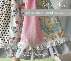 Sophia Skirt Free Tutorial Sizes 2-10