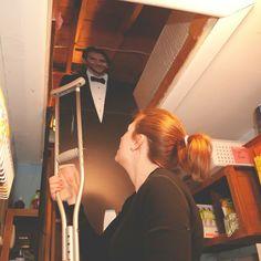 Bradley Cooper helps load the attic