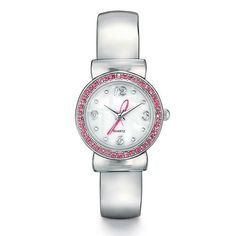 It's time to make a difference! Avon's Breast Cancer Crusade Ribbon Cuff Watch features pink rhinestone like accents.One size fits most.  For every watch purchased $4 will be donated to the Avon Foundation for Women to support Avon Breast Cancer Crusade programs across the U.S.