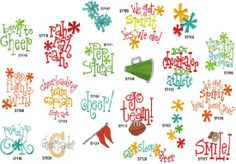INSTANT DOWNLOAD - Sayings Cheerleader Machine Embroidery Designs - $3.99 set