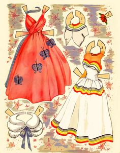 BEAUTY QUEEN Paper Dolls by Lucille Wallace from Saalfield  #2742 pg 2