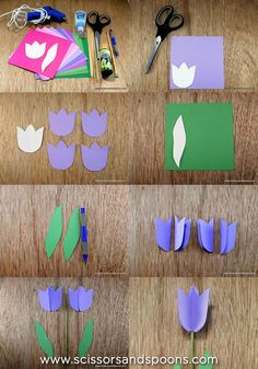 Tulipanes de papel