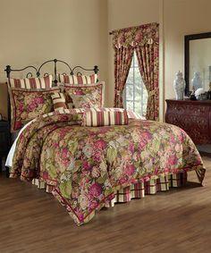 Loving this Floral Flourish Cordial Four-Piece Reversible Comforter Set on…
