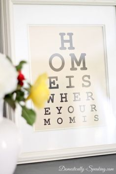 Mother's Day Eye Chart Printable - Domestically Speaking