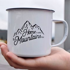 Home is where the Mountains are, and this mug is the perfect accessory to take with you on your Montana Mountain adventures. Super light-weight and easy to pack, this mug is perfect for the adventurer