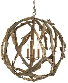 Driftwood Orb From Currey Co Coastal Living
