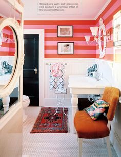 fun bathroom  via Lonny