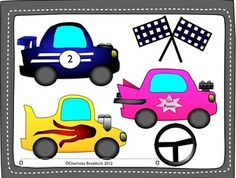 Free Race Car Clipart for Personal or Commercial Use - Charlotte's Clips - TeachersPayTeachers.com