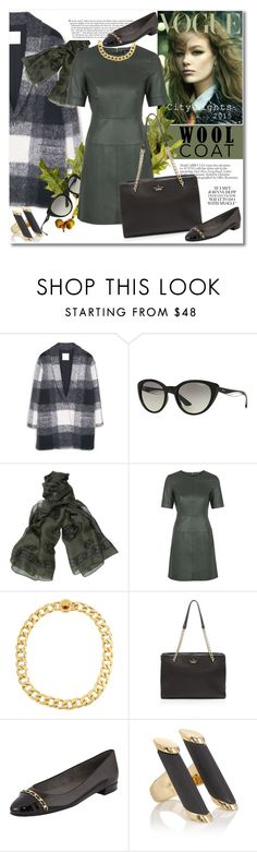 """Wool coat"" by vkmd ❤ liked on Polyvore featuring MANGO, Vogue Eyewear, Alexander McQueen, Topshop, Kenneth Cole, Kate Spade, Stuart Weitzman, Maiyet and woolcoat"