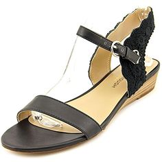 Julianne Hough Robyn Women US 10 Black Wedge Sandal -- Check this awesome product by going to the link at the image.