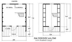 Domki letniskowe - SOKOŁEK Floor Plans, Frames, Houses, Alpine House, Country Houses, Homes, Frame, House Floor Plans, Home