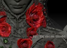 3D  ZBrush [unfinished] rose 1  . 2012 MADE BY M WALKER http://blog.naver.com/ckdansduv/20174526652