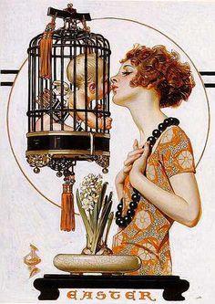 J.C. Leyendecker, The Saturday Evening Post, Easter, 1923 by Gatochy, via Flickr