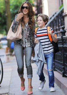 Mother son bonding: The 49-year-old actress also accompanied her 11-year-old son James to ...