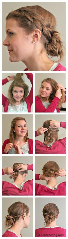Easy Braided Updo - Hair Tutorial