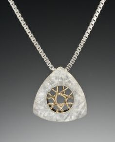 Small Spyro Pendant: Marie Scarpa: Gold & Silver Necklace - Artful Home