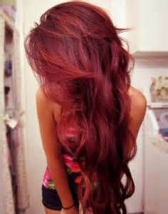 dark red hair color ideas with highlights - Bing Images