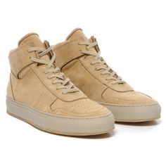Common Projects BBall High in Nubuck Tan