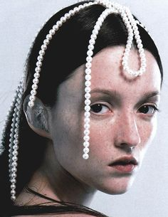 Audrey Marnay byEric Traoré for Vogue ParisSeptember 1999. @thecoveteur