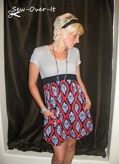 upcycled dress and t-shirt tutorial