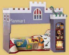 Castle Loft / Bunk Bed Furniture Woodworking Plans