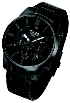 Model PT3345X1 RRP £115 Black ion plated case and bracelet Chronograph Water resistance to 100m
