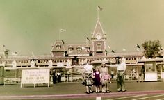 Family at Disneyland, 1955