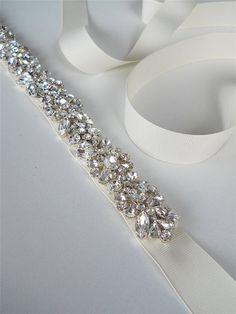 Swarovski belt sash Wedding belt Bridal belt by SabinaKWdesign, $320.00