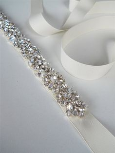 Swarovski belt sash Wedding belt Bridal belt by SabinaKWdesign, $320.00