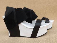 大牌UN2013新款松紧束脚复古船形底百搭时尚坡跟凉鞋-淘宝网