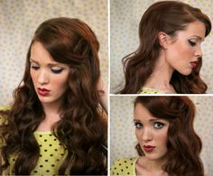 The Freckled Fox: Sweetheart Hair Week: Tutorial #1 - Classic Bombshell