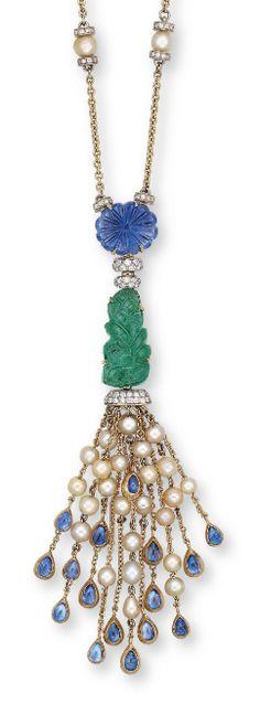 Necklaces – Page 2 – Modern Jewelry Tassel Jewelry, Pearl Jewelry, Antique Jewelry, Vintage Jewelry, Fine Jewelry, Jewellery, Bijoux Design, Jewelry Design, Pendant Set