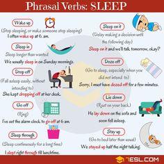 SLEEP Phrasal Verbs