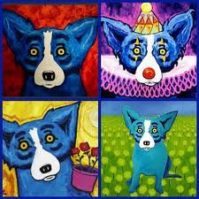 kids got arty with George Rodrigue! george rodrigue blue dogs- use for inspiration in kid's artgeorge rodrigue blue dogs- use for inspiration in kid's art Blue Dog Painting, Blue Dog Art, Louisiana Art, Cockerspaniel, Dog Runs, Middle School Art, Dog Paintings, Art Classroom, Teaching Art