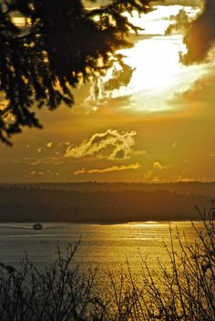 Sunset from West Seattle 3-17-12