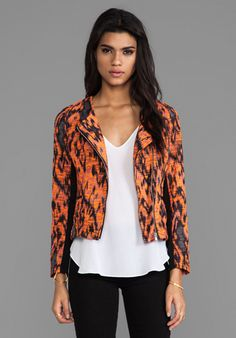 MM Couture by Miss Me Printed Jacket in Black