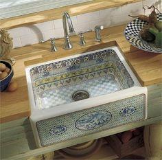 Gathering(TM) design on Alcott(TM) tile-in kitchen sink with four-hole faucet drilling by Kohler® on HomePortfolio