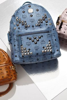 Make a statement in these studded backpacks & handbags from MCM.