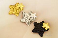 star hair clip, glitter star hair clip, girls hair clip, hair clips toddler, Glitter Hair Clip, Star Hair Clip, sparkle hair clip,