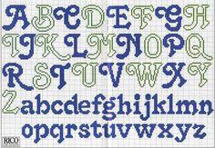 punto de cruz facil plantillas de abecedarios gratis plantillas de ...