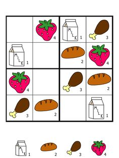 easy sudoku for kids Sudoku Puzzles, Logic Puzzles, Infant Activities, Book Activities, Turkish School, Visual Perception Activities, Shapes Worksheets, Educational Games For Kids, 1st Grade Math