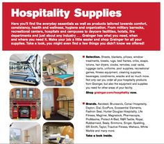 14) The TSR shows me Grainger's hospitality line catalog, which I had glanced at while I was on their site. Having this discussion has really opened my eyes about all the ways that Grainger can help. I'm not sure how I could have arrived at this conclusion without the TSR.