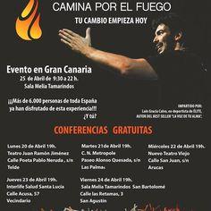Mas de 400 personas ya tienen su plaza para nuestras proximas conferencias en Gran Canaria ... ¿Y tu?   Solicitala en caminaporelfuego@gmail.com  #caminaporelfuego #laingarciacalvo #tucambioempiezahoy #firewalking  www.caminaporelfuego.com