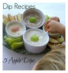 Dip Recipes- 5 Apple Dips by JDaniel4's Mom