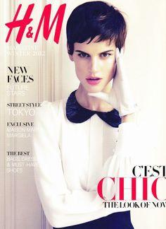 H&M Magazine cover with Saskia de Brauw - December 2012