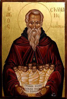 άγιος Στυλιανός Byzantine Icons, Byzantine Art, Faith Of Our Fathers, John Chrysostom, Church Icon, Orthodox Icons, Blessed Mother, Christian Art, Religious Art